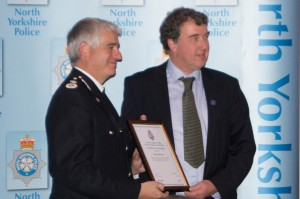 David Edwards receiving his individual award from the Chief Constable